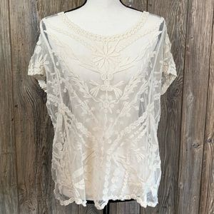 New Directions lace blouse